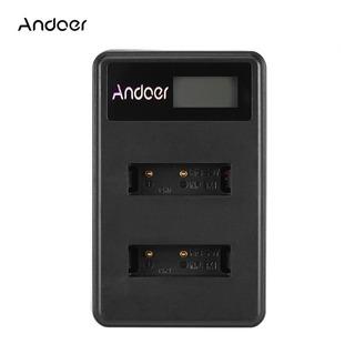 Andoer Mini Portátil Dual Slot Lcd Pantalla Cargador Usb Par