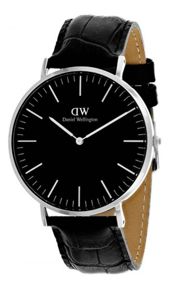 Reloj Daniel Wellington Classic Reading Plateado Negro 40mm
