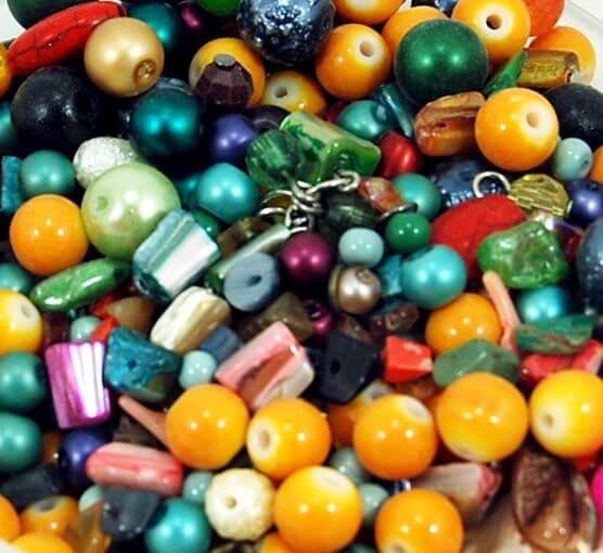 Perlas De Vidrio Surtidas Para Confección Bijouterie 500gr