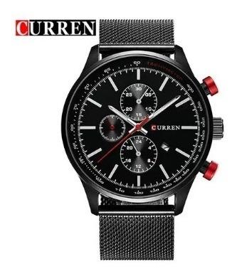Relógio Masculino Original Quartzo Preto Homens Luxo Esporte