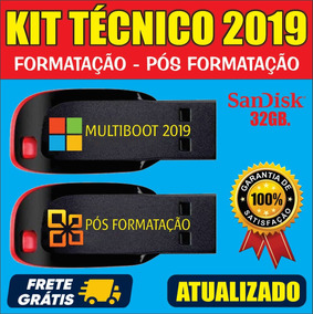 Kit Técnico Informatica - Kit Multiboot + Kit Pós Formatação