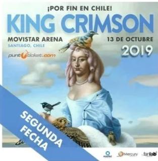 2 Entradas King Crimson Golden Discipline Tour 2019