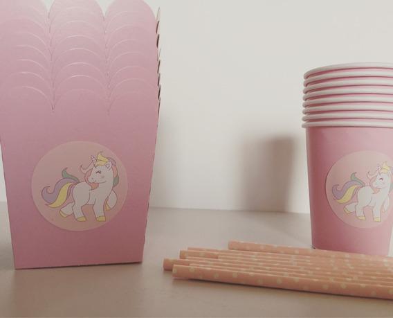 Kit Cotillón De Unicornios Party Box