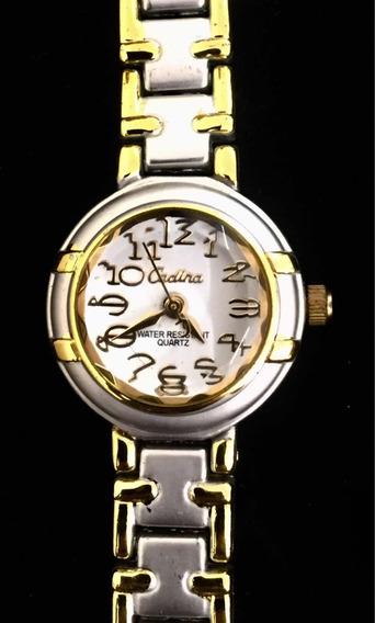 Relógio Feminino Cadina Branco Produto De Mostruário 008