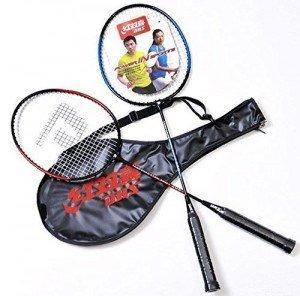 2 Raquetes De Badminton Da Liga 1010 De Alumínio + Capa