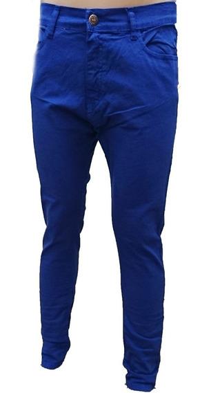 Pantalon Chupin Gabardina Elastizado Niño Jean Colores,local
