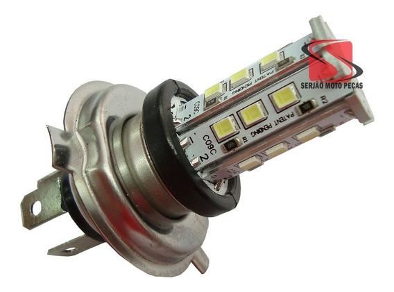 Lampada H4 12v Com 18 Leds Para Motos 35/35w