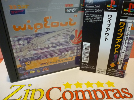 Ps1 Wipeout Completo Com Spine Card Original Playstation One