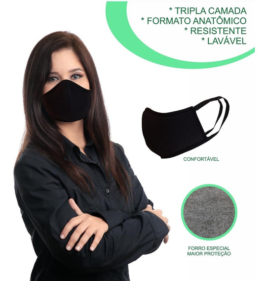 Máscara Respiratória Lavável Reutilizável Tripla Proteção