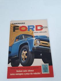 Folder Folhetos Brochura Catálogo Ford F 600 Coleção Raro!!!