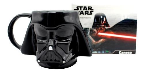 Caneca Formato Porcelana 3d Darth Vader - Star Wars Oficial