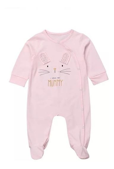 Mameluco De Algodón Para Bebés Niñas Diseño Conejo Estampado