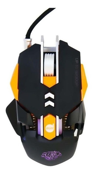 Mouse Gamer Dazz Thundertank Preto/laranja - Ref.624647