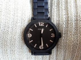 Relógio Fossil Original Preto Fosco Com Fundo Marron Escuro
