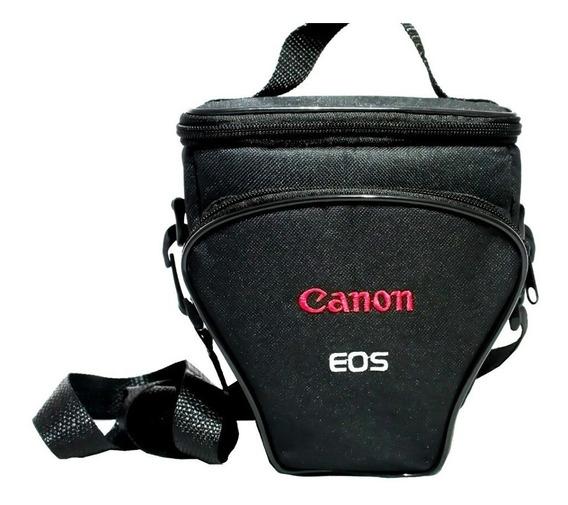 Case Triangulo Reflex Para Canon Bordado Eos T4 T5 T6 T7 T6i