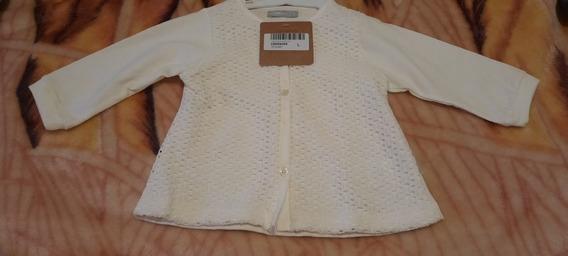 Cardigan Color Blanco Original De Minimino Talle L. Nuevo