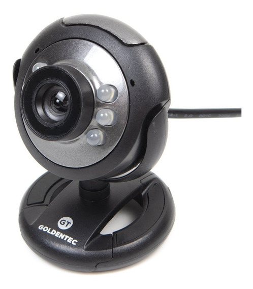 Webcam 16mp Goldentec Gt824 Usb Com Microfone E 6 Leds Preta