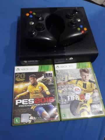 Vídeo Game Xbox 360+2 Controles+pes 16+fifa17