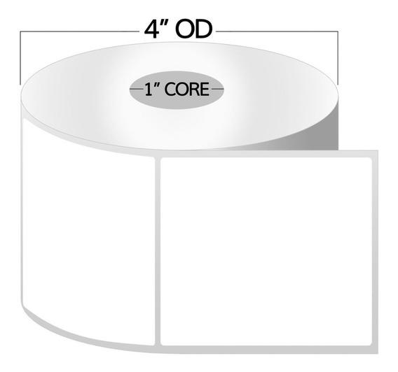 Etiquetas De Impresora Térmica Compatibles Con Zebra Rollos