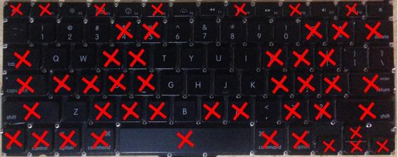 Teclas Para Teclado Macbook Pro 13.3 A1278 2008