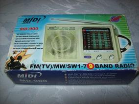Radio Portatil - Midi Japan - Md 900 - Na Caixa -funcionando