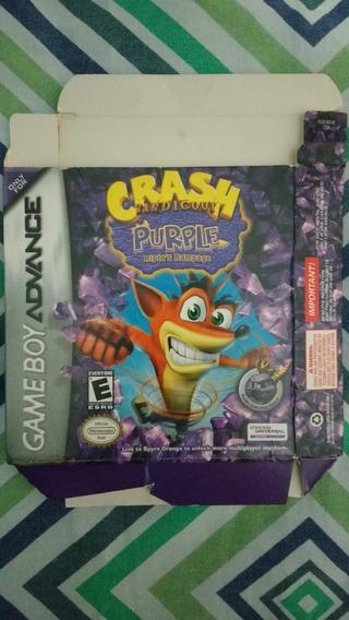 Caixa Crash Bandicoot Purple Riptos Rampage Gba Americano