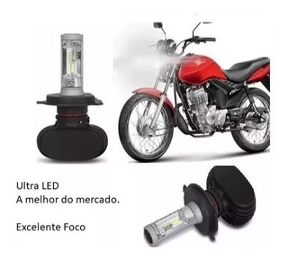 Lampada H4 Ultra Led Farol Moto Honda Cg Fan E Titan 150