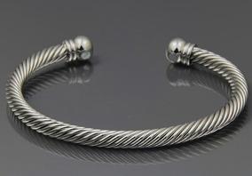 Pulseira Bracelete Cobre Magnética Prateada Saúde Promoção