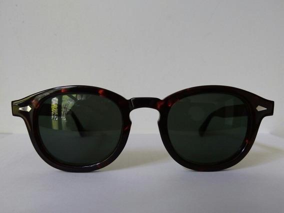 Óculos De Sol Moscot Tortoise Com Lentes Verdes Ou Marrom
