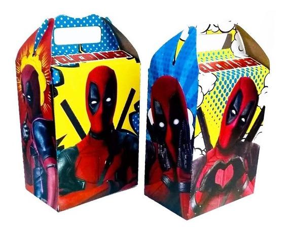 Deadpool Dulcero Caja Dulcera Bolos Fiesta! Dead Pool