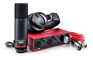 Kit Focusrite Scarlett 2i2 Studio 3ra Gen Grabacion Envios