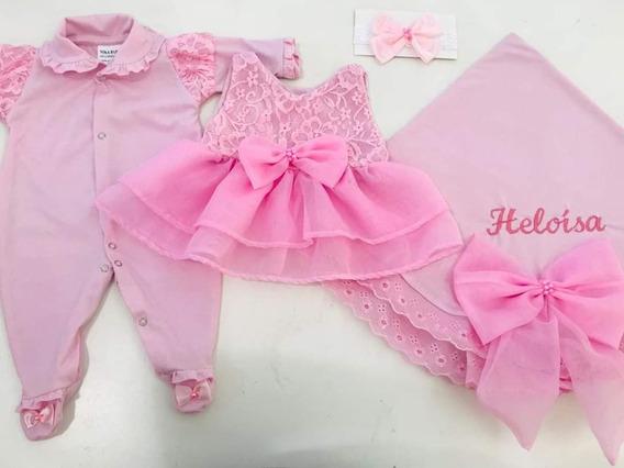 Saída De Maternidade Menina Personalizada Luxo