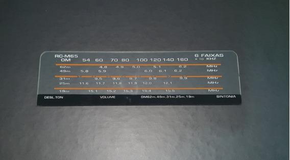 Vidro Dial Para O Rádio Motoradio Modelo Rc-m65 (6 Faixas)