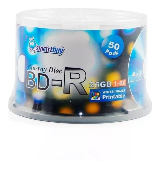 50 Mídias Smartbuy Blu-ray 25gb 10x Printable Lacrado Bd-r