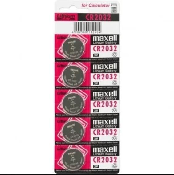 Bateria Pilha Maxwell Cr2032 Cartela Com 5 Unidades Original