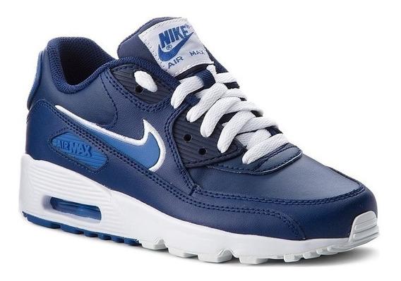 Zapatillas Nike Air Max 90 Leather Azul Talle 40eur