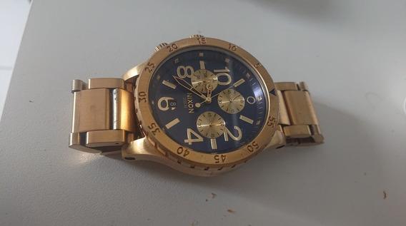 Nixon Chrono 48-20 Gold Blue