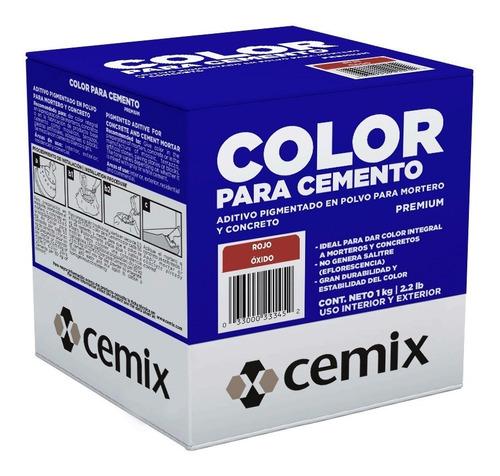 Imagen 1 de 1 de 5 Piezas De Pigmento Rojo Oxido Cemix 1 Kg