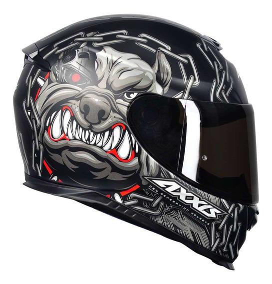 Capacete Moto Axxis By Mt Eagle Bull Cyber Matt Black/ Grey