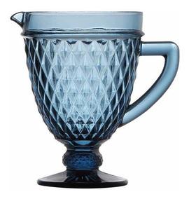 Jarra Bico De Abacaxi De Um Litro Cor Azul.
