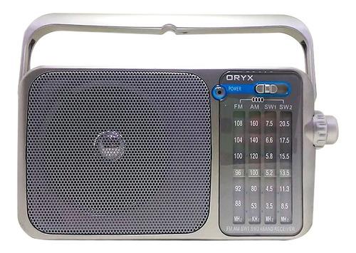 Radio Portable Retro Oryx Am/fm Alimentación Dual 4 Bandas