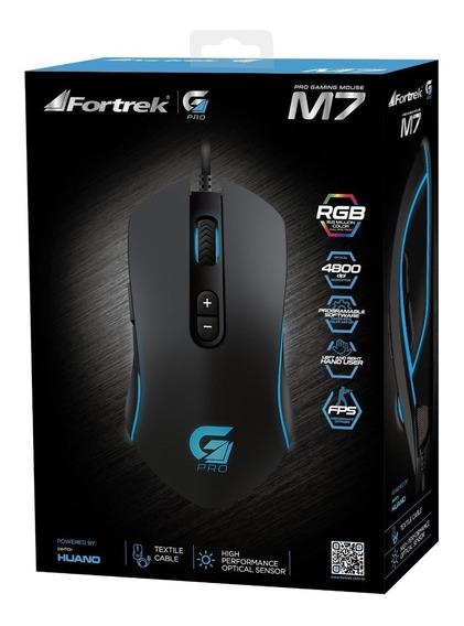 Mouse Gamer Fortrek Gaming Pro M7 Rgb 4800dpi