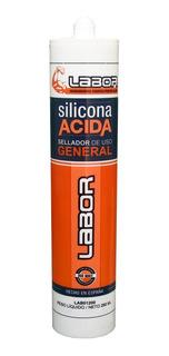Sellador Silicona Acida Transparente Blanco Negro Labor