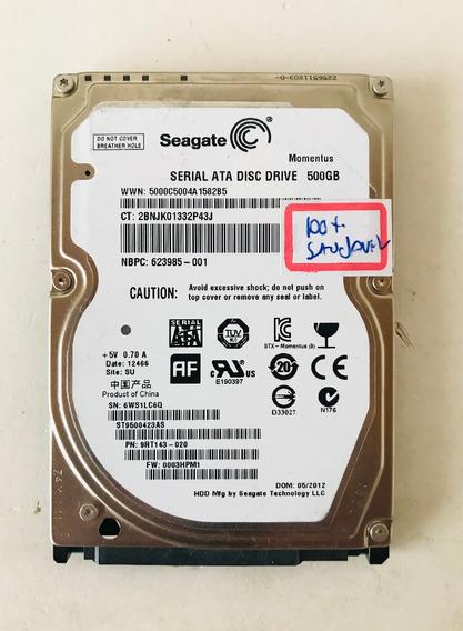 Hd Seagate Momentus 500gb Sata 2.5 Notebbok St9500423as 100%