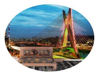 Adesivo Papel Parede Cidades Lavável São Paulo - 10 Unids.
