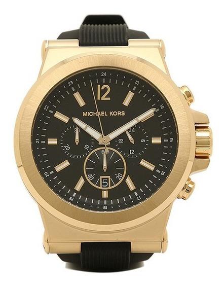 Relógio Michaelkors Mk8445 Dylan Orig Chron Anal Gold Black