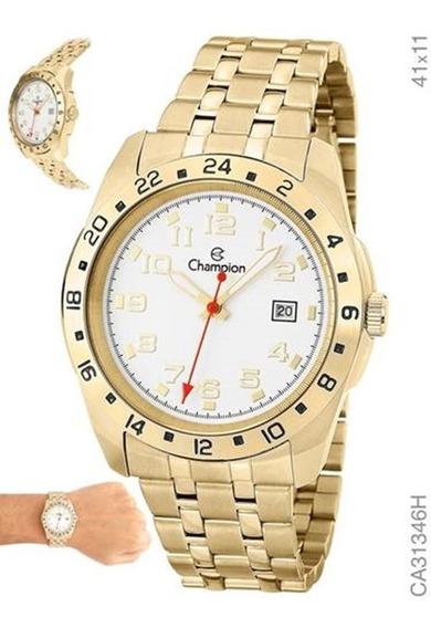 Relógio Champion Unissex Dourado Ca31346h