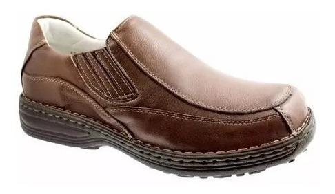 Sapato Couro Alcalay Relax Conforto Palmilha Gel Tradicional