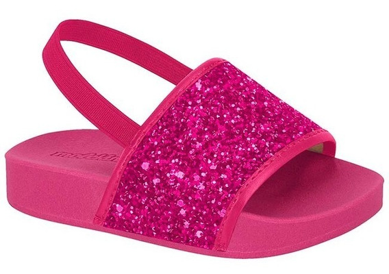 Sandália Bebê Molekinha Glitter Pink - Qualidade Top