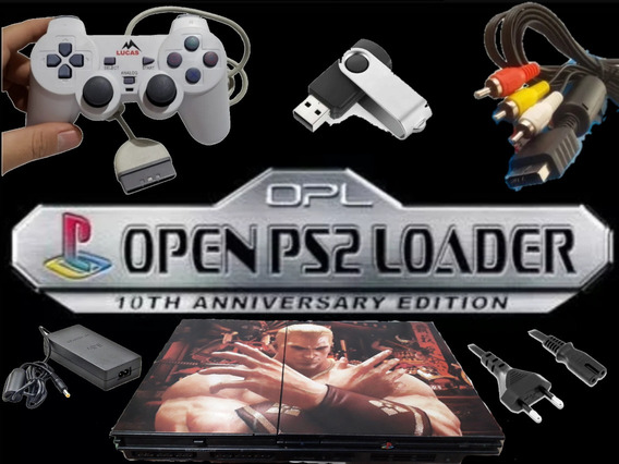 Super Playstation 2 Opl + Top + 2 Controles (leia Descrição)